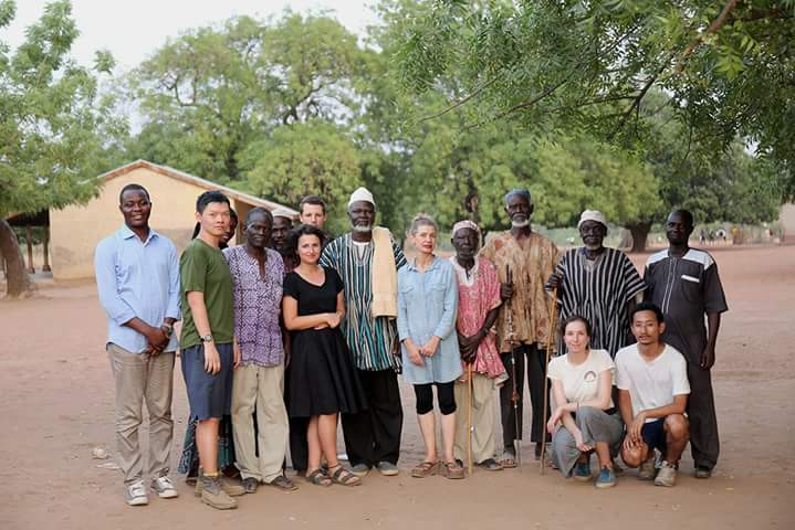 Design team with BA staff, Chief and elders after a presentation. Photo credit: Toms Kampars