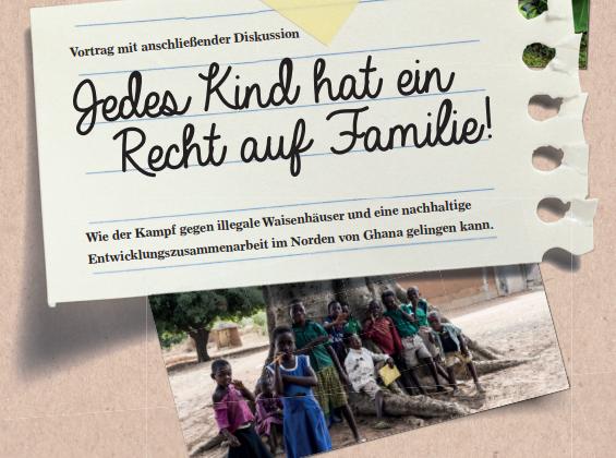 """Veranstaltungseinladung """"Jedes Kind hat ein Recht auf Familie!"""" am 22. November 2018 um 19.00 in Linz"""