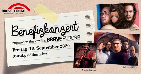 Benefizkonzert am 18.09. im Muskpavilion Linz